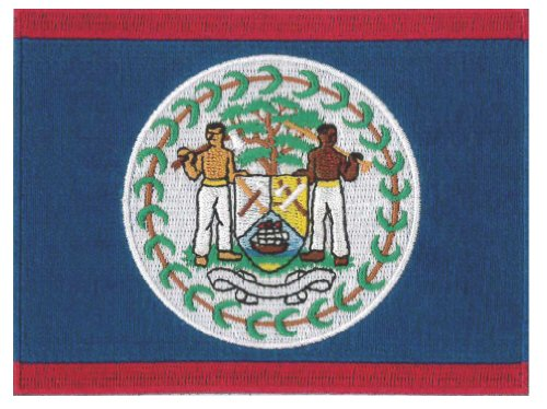 Belize Flag Embroidered Patch 12 X 9CM