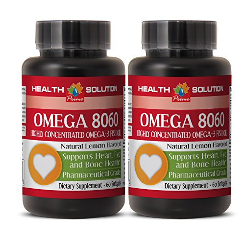 Omega 6 9 - OMEGA 8060 OMEGA-3 FATTY ACIDS - boost the immune system (2 Bottles) by Health Solution Prime