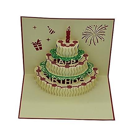 Amazon Handmade 3d Pop Up Birthday Cards Creative Greeting