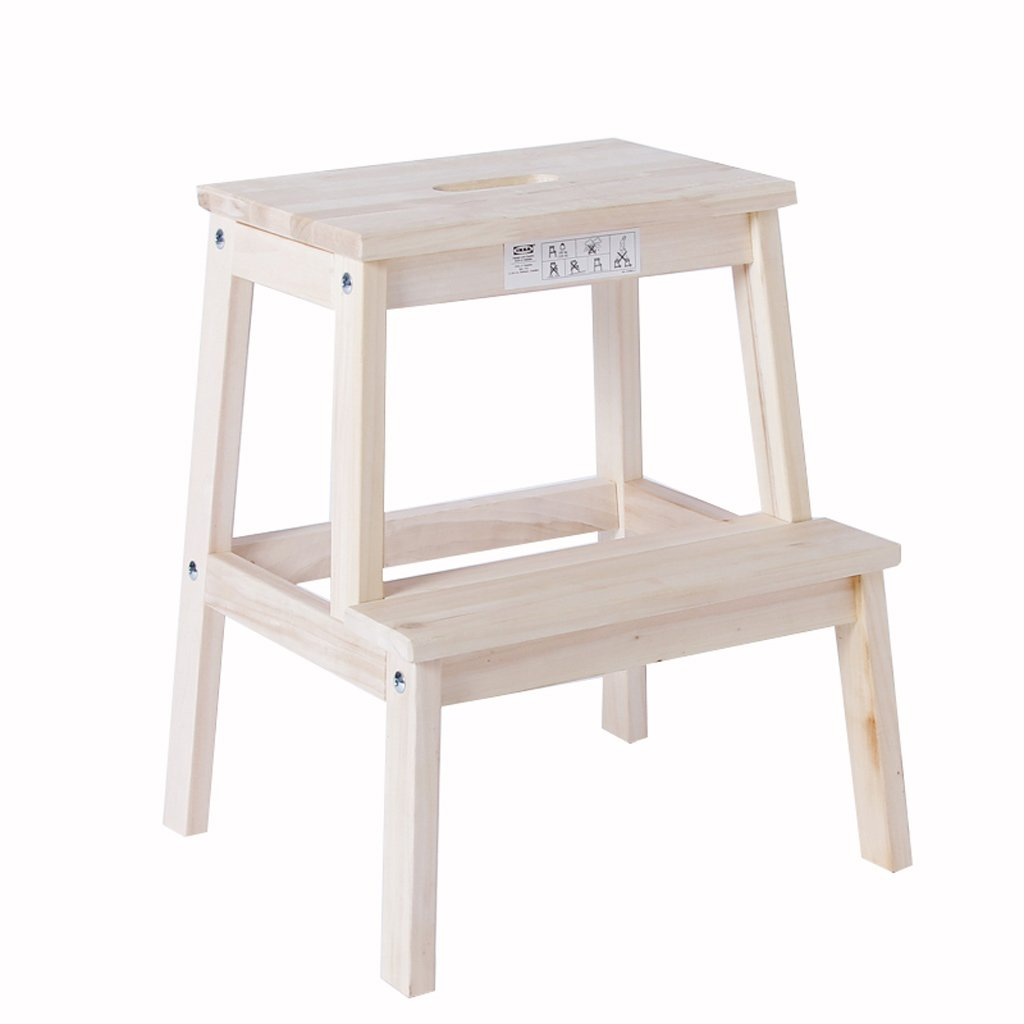 Step Stool 2 Layer Solid Wood Multifunction Assembly Ladder Stool Shoe Bench Children's Stool Can Bear 150kg Furniture