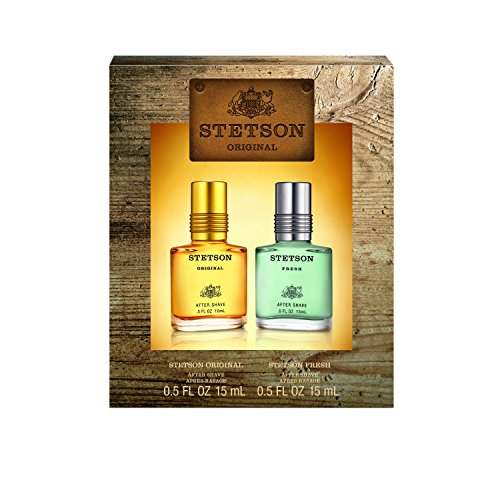 (Stetson OMNI 2pc Set - 0.5oz Aftershave Perfume (Original) + 0.5oz Aftershave Perfume (Fresh))