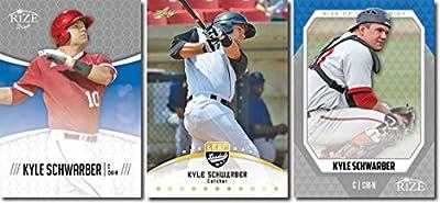 """Kyle Schwarber 2014 Leaf Gold """"3"""" Card Rookie Card Lot! Chicago Cubs!"""