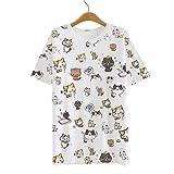 AnimeTown Japanese Cat Game Nekoatsume Costume Short Sleeves Tee T-shirt