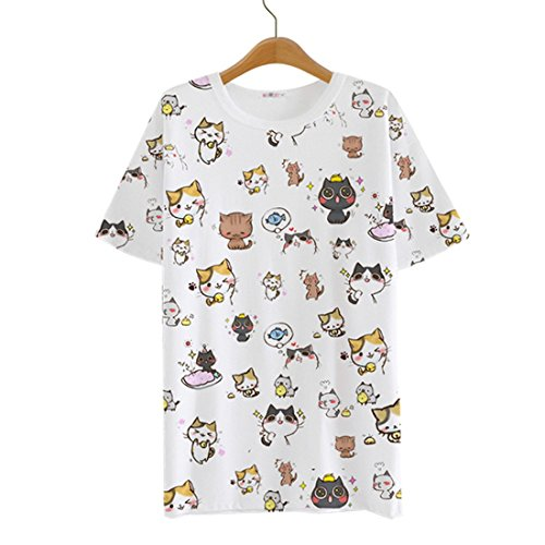 AnimeTown-Japanese-Cat-Game-Nekoatsume-Costume-Short-Sleeves-Tee-T-shirt
