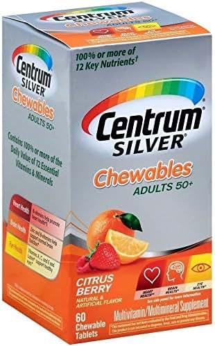Centrum Silver Tablets Chewables Citrus Berry 60 Tablets