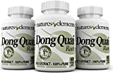 Natures Elements Dong Quai Extract - PACK OF 3-180 Veggie Caps - Standardized 10:1 Extract - 1% Ligustilide - 3 Month Supply - (Angelica Sinensis)