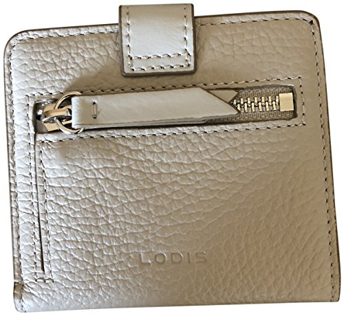 Lodis Kate Leather Petite Card Case Wallet Cement