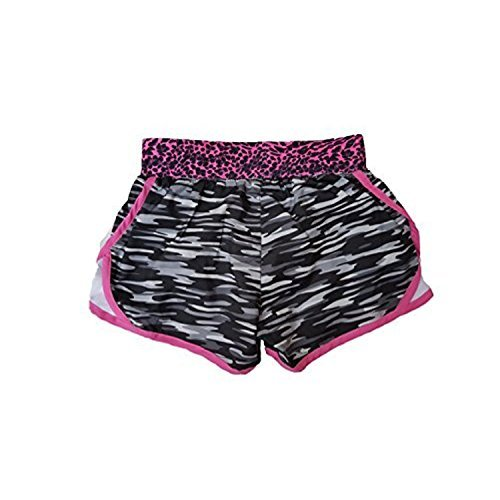 Nike Little Girls Tempo Shorts (6 Little Kids x One Size, Camo Black (023) / Cano Pink/Reflective Silver)