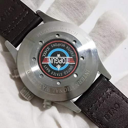 JFfactory klassisk ny män automatisk mekanisk pilots kronograf daydate Le Petit Prince safir dubbel brun läder blå klocka