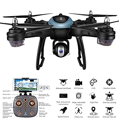 DICPOLIA RC Helicopter Remote Control LH-X38G Dual GPS FPV Drone Quadcopter with 1080P HD Camera WiFi Headless Mode ,Outdoor Racing Controllers Return Home RC Flying Helicopter Toy Gift for Adults from DICPOLIA---helicopter...