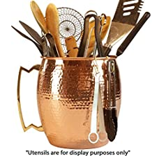 Hammered Copper Utensil Holder