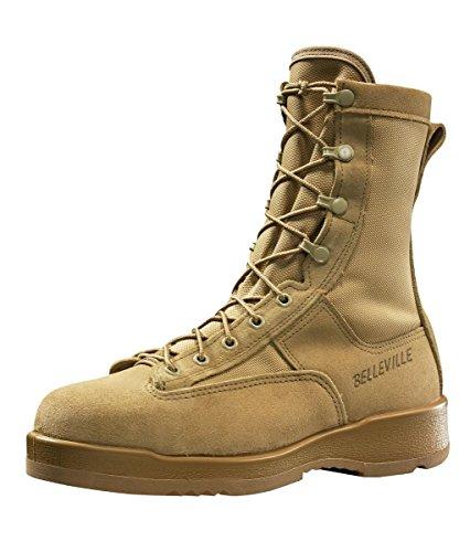 Belleville 330 Hot Weather Steel Toe Flight Boot Desert Tan, Made in USA, 13W (Boot Toe Flight)