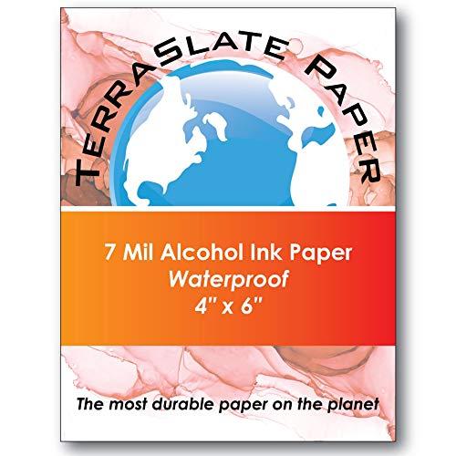 "TerraSlate Paper 7 Mil 4"" x 6"" Alcohol Ink Art"