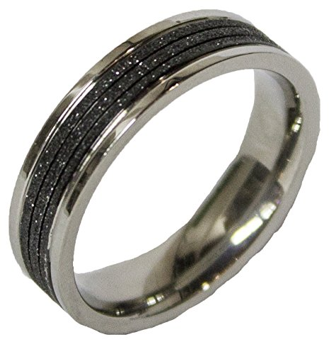 - Men's Stainless Steel Dress Ring Two Tone Band 092 (11)