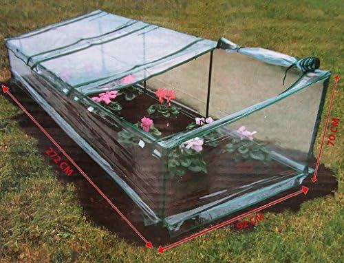 Invernadero de Terra Orto Jardín para cubierta Semillas Plantas hortalizas y flores 272 x 92h70 3 puertos con doble cremallera toalla plastificado anti lluvia de PVC Protector de macetas: Amazon.es: Jardín