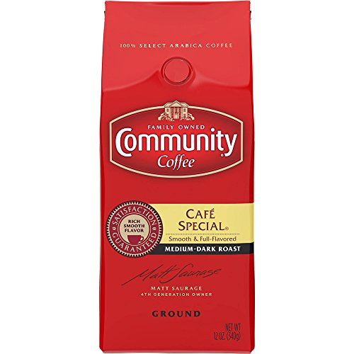 Community Coffee Premium Ground Café Special Medium-Dark Roast Coffee, 12 Ounce (Pack of 4) by Community Coffee