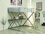 Coaster Home Furnishings Full Workstation Loft Bed with Desk Silver