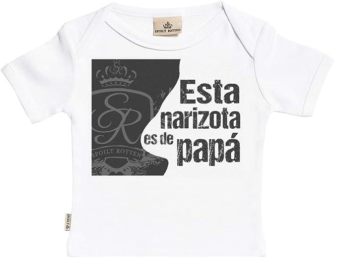 SR - Estuche de presentación - Esta narizota es de papá Camisetas para bebé  niño - Camisetas para bebé niña - Conjunto Regalo del bebé Blanco  Amazon.es   ... 31d71e2bc73a9