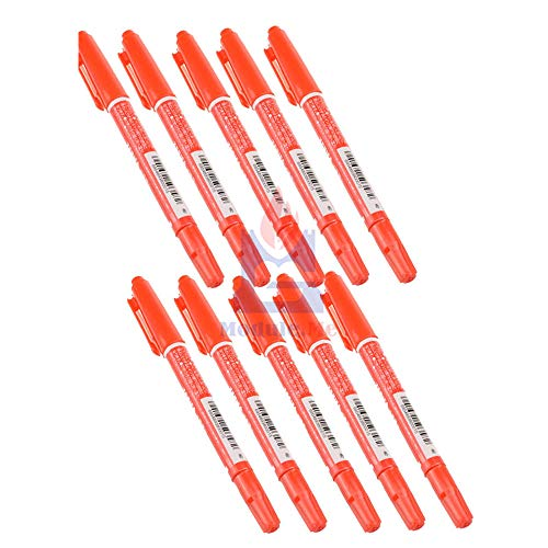 10PCS Red CCL Anti-Etching PCB Circuit Board Ink Marker Double Pen for DIY PCB Repair CCL Printed Circuit Diagram for Arduino