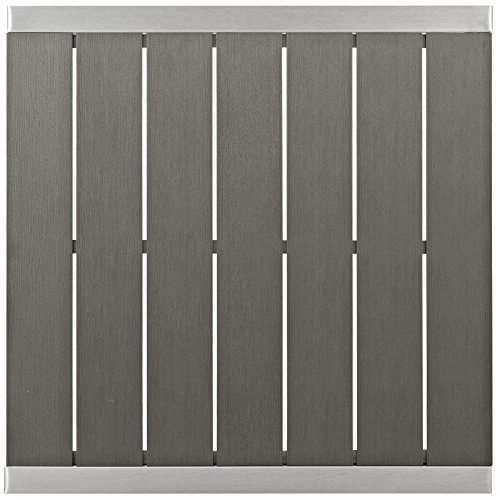 Modway Shore Aluminum Outdoor Patio Square Bar Table in Silver Gray by Modway (Image #3)