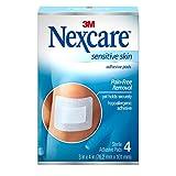 Nexcare Sensitive Skin Adhesive Pads, 4 Count