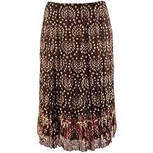 Gianni Bini Women's Textured Patterned Silk Skirt