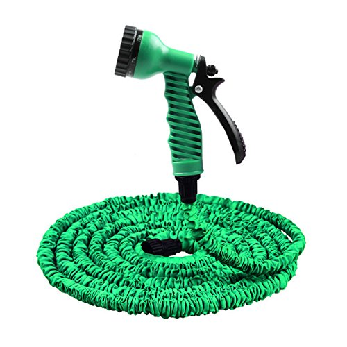 IDS Home Magic Flexible Water Hose with 150FT High Pressure 3X Expandable for Watering Garden or Car - Green (450' Magic)