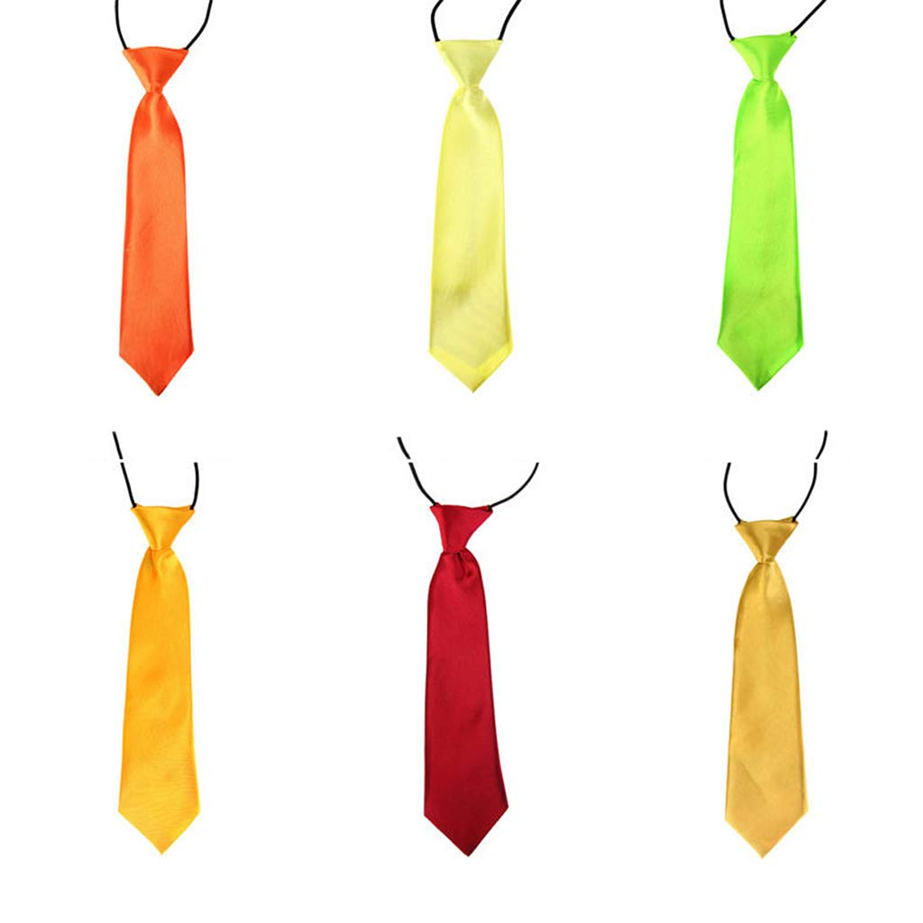 Roydoa Corbata de cuello elástica ajustable de 26 colores sólidos ...