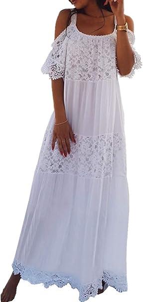 Imagen deAiJump Chiffon Vestido Largo Pareo Bikini Cover Up Beachwear para Mujer