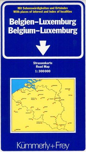 Belgien / Luxemburg 1 : 300 000. Straßenkarte. Mit Sehenswürdigkeiten und Ortsindex. (International Road Map) (Englisch) Landkarte – Folded Map, 1. August 2001 Kümmerly + Frey Hallwag Kümmerly + Frey 3259011927 Gazetteers & Maps)