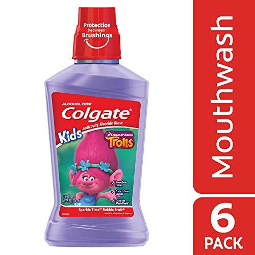 Colgate Kids Mouthwash, Trolls - 500 mL (6 Pack)