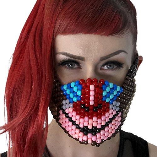"""Masque Kandi """"Singe"""" - Kandi Gear, masque pour rave party, masque pour Halloween, masque de perle pour festivals de musique et fêtes"""