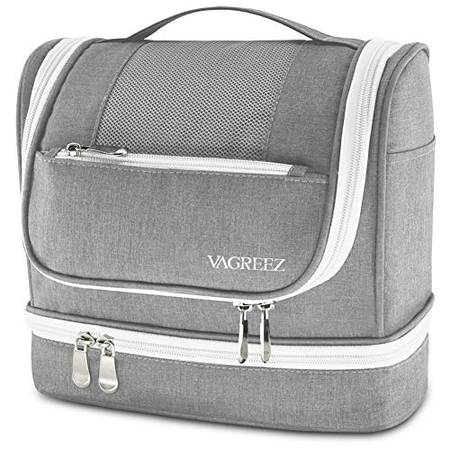 Toiletry Bag, Hanging Travel Toiletry Kit with Heavy-duty Zippers Waterproof Toiletry Bag for Men or Women