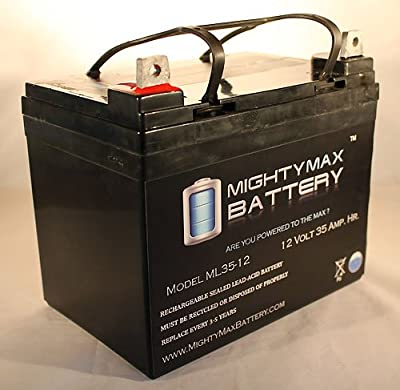 12V 35AH Light Trolling Motor Battery Sevylor Minn Kota Golf Cart - Mighty Max Battery brand product