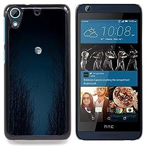 """Luna Cielo Bosque Negro de Halloween"""" - Metal de aluminio y de plástico duro Caja del teléfono - Negro - HTC Desire 626 626w 626d 626g 626G dual sim"""