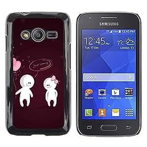 Smartphone Rígido Protección única Imagen Carcasa Funda Tapa Skin Case Para Samsung Galaxy Ace 4 G313 SM-G313F Cute Love You Couple / STRONG
