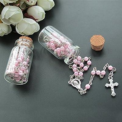 12PCS First Communion Rosary Gifts Favors Recuerdos Primera Comunion Rosarios