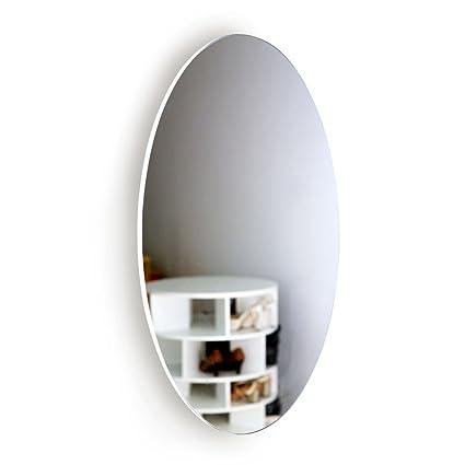 Amazon.com: Facilehome Oval Wall Mounted Dressing Mirror No Frame ...