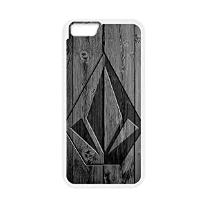 Volcom Logo For iPhone 6 Plus 5.5 Inch White Custom Cell Phone Case Cover 99II935090