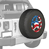 Jeep Wrangler Distressed Star Spare Tire Cover