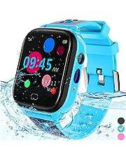 Kinderen Smart Watch Phone - IP67 Waterdicht Smartwatch Jongens Meisjes met Touch Screen 5 Games Camera Alarm SOS Call - Telefoonhorloge Digitaal Polshorloge voor 3-13 jaar Kinderen Verjaardagscadeau (blauw)