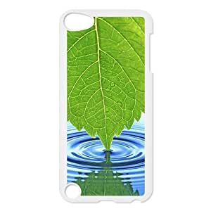 iPod 5 Case,Green Leaf Hard Snap-On Cover Case for iPod Touch 5, 5G (5th Generation) Designed by HnW Accessories