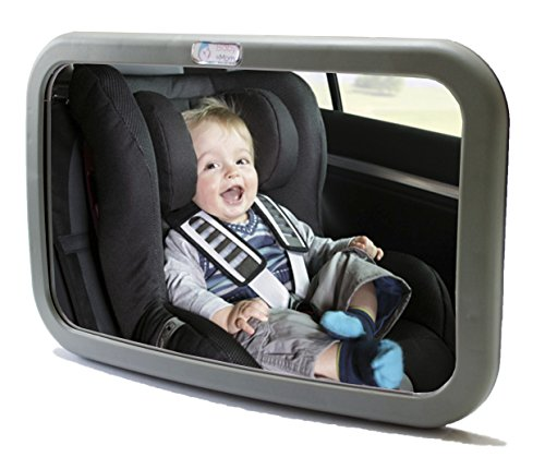 1 Back Seat Mirror - Baby & Mom Rear View Baby Mirror - Easily Watch your Precious Child In-Car - Adjustable Convex and Shatterproof Glass