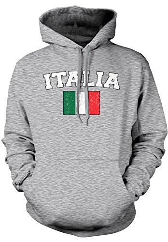 Amdesco Men's Italian Flag, Flag of Italy, Love Italia Hoode