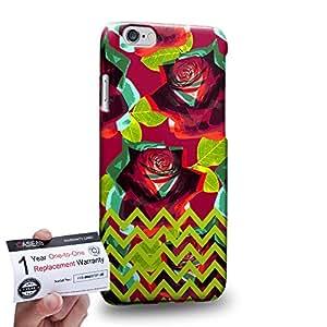 "Case88 [Apple iPhone 6 / 6s (4.7"")] 3D impresa Carcasa/Funda dura para & Tarjeta de garantía - Art Drawing Fashion Floral Chevron D"