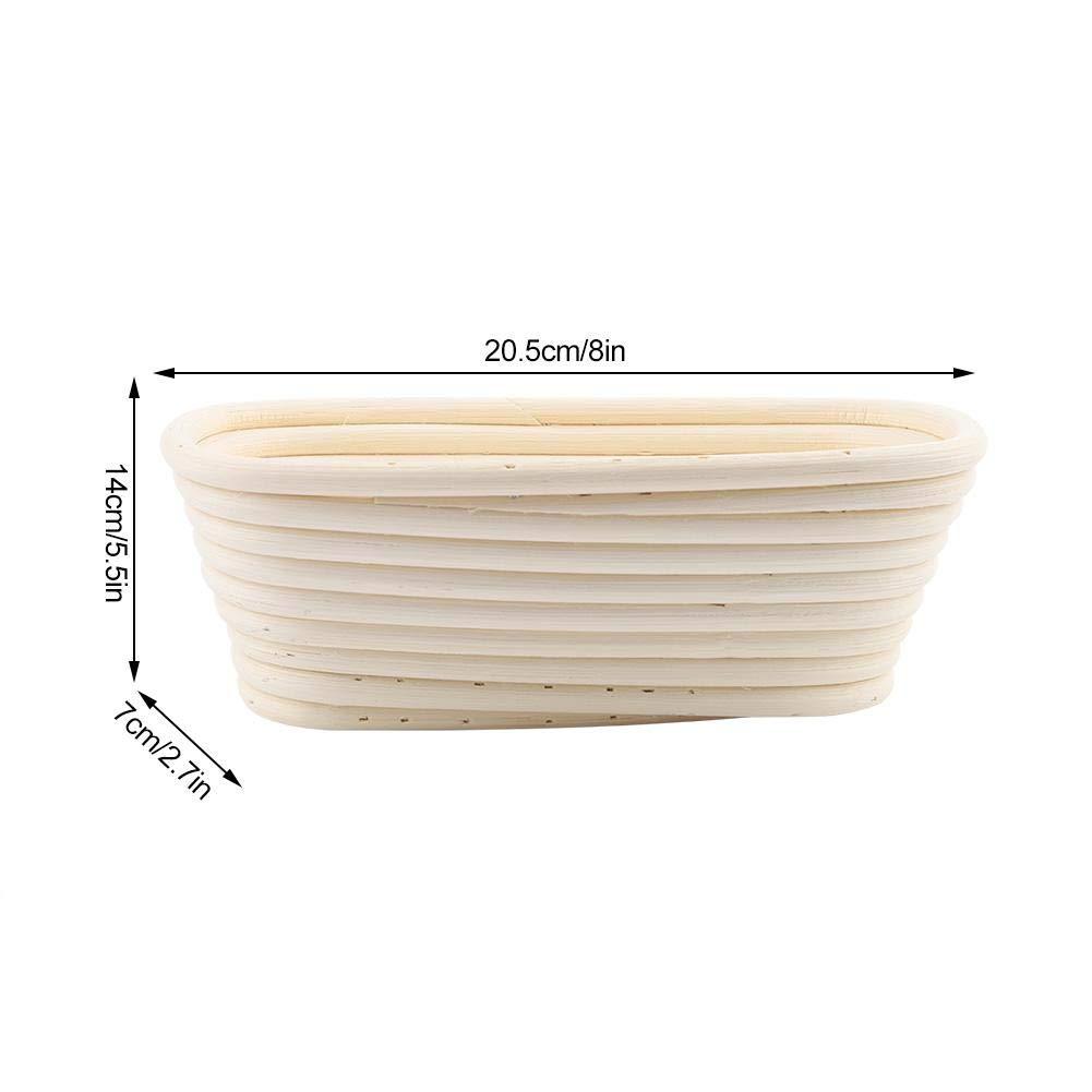 cesta de rat/án herramienta para hornear 20.5 * 14 * 7cm Cesta para pan rectangular a prueba de banneton cesta de almacenamiento de cocina