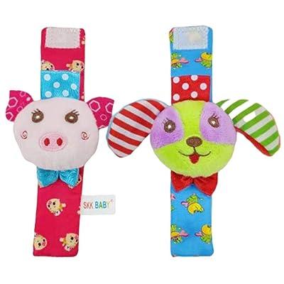 Xixou Baby Cute Animal Multicolor Cartoon Wrist Bell Rattling Socks Rattles : Baby