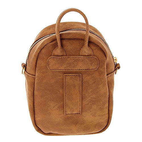 Brown Claire's Faux Girl's Girl's Backpack Mini Cognac Claire's Crossbody Leather Tzq6Trvw