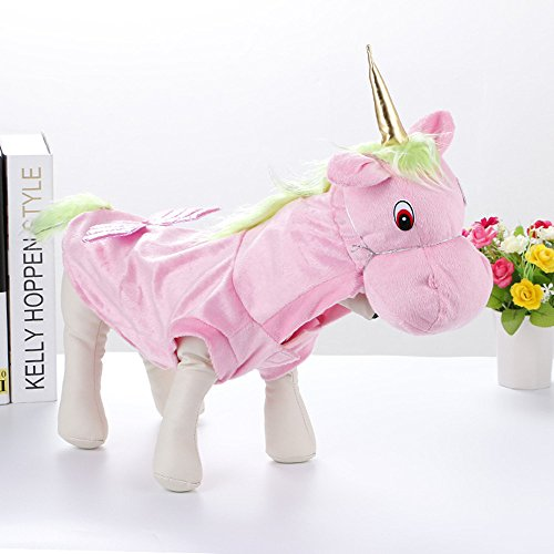 Cheerhunting Fancy Style Pet Costume Pink Unicorn Cosplay Party Dress Clothing for Dogs Cats (Pink Unicorn Costume For Dogs)