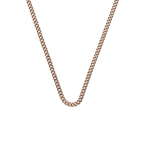 Emozioni Rose Gold Plated Sterling Silver Belcher Chain of 76cm sgymP6